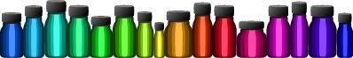 Aromatherapy bottles divider